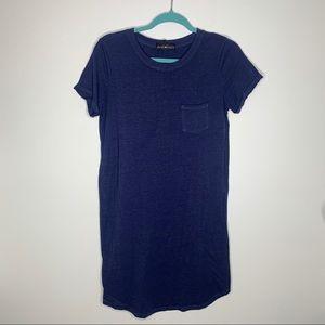 Derek Heart blue t-shirt dress with front pocket